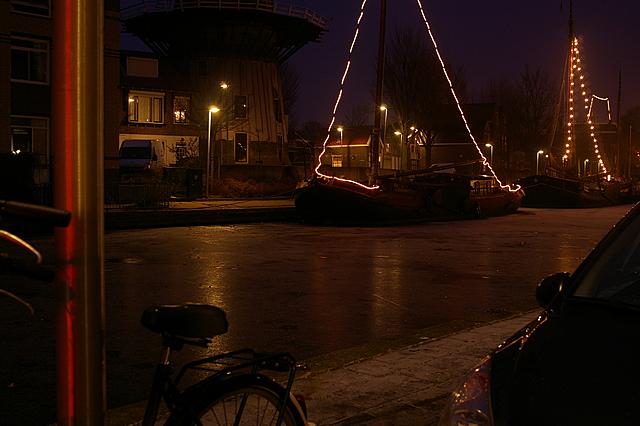 Turfsingel in de kersttijd