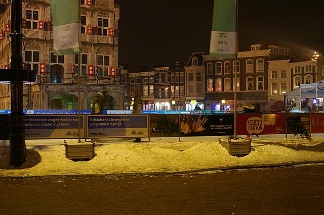IJsbaan op de markt in Gouda