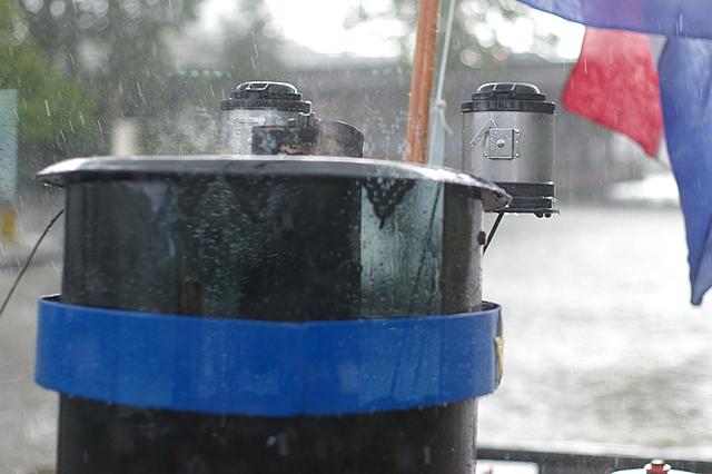 Vallende regendruppels