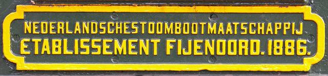 Plaquette Nederlandse Stoomboot Maatschappij