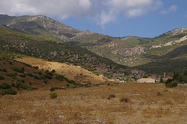 Uitzicht op het oude Doğanbey