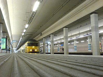 Aanstormende trein