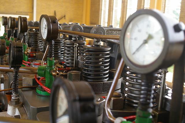 Klepveren en drukmeters