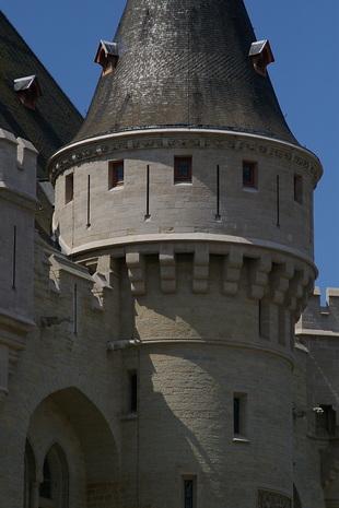 Detail van de Hallepoort