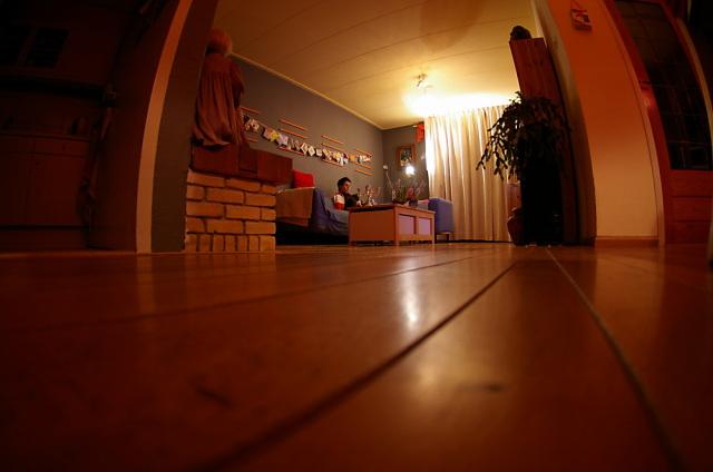 De huiskamer vanaf de grond