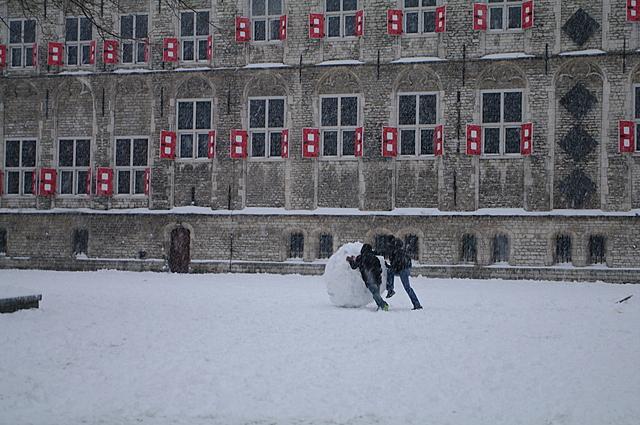 Enorme sneeuwbal