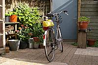 De fiets staat klaar