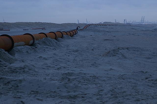 Buizen op het strand