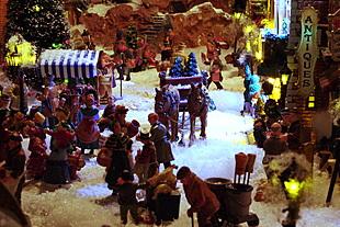 Miniatuur kerstdorp