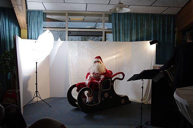 Kerstman studio in Korte Akkeren