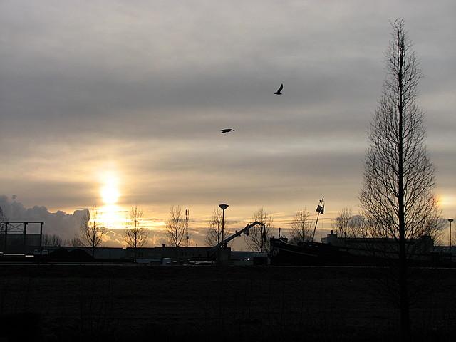 Zonsondergang in Korte Akkeren