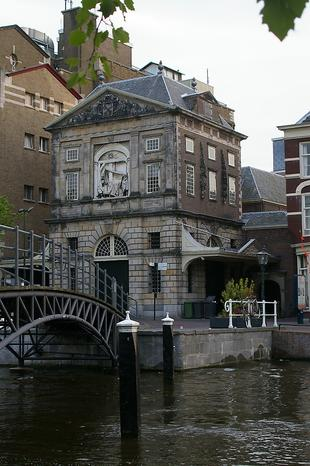 Oud gebouw in Leiden