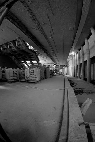 Bouw nieuw metrostation Rotterdam CS