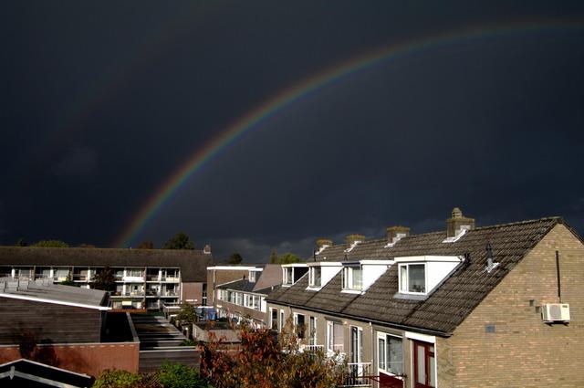 Regenboog boven Gouda