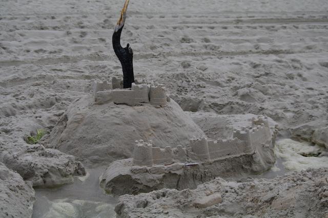 Er waren niet alleen kuilen op het strand!