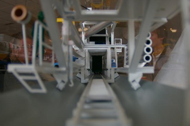 Model van de tunnelboormachine