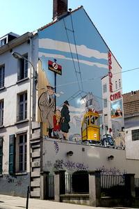 Stripmuur in Brussel