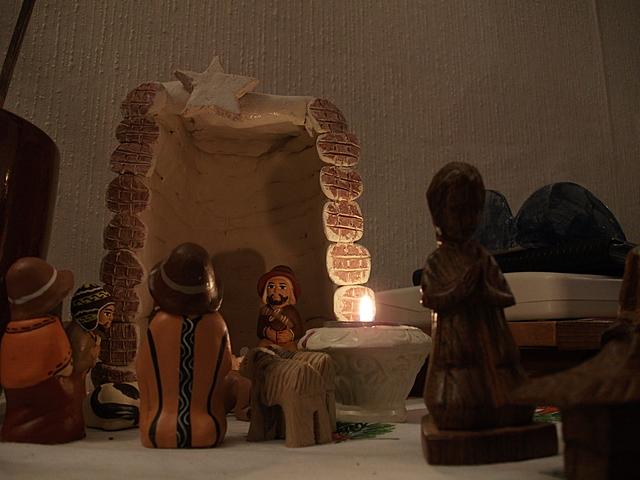 Kerststal uit Peru