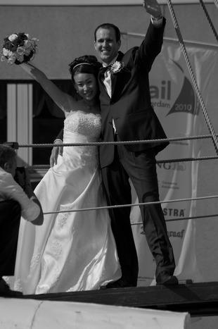 Trouwen tijdens Sail Amsterdam 2010