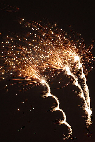 Vuurwerk boven Gouda