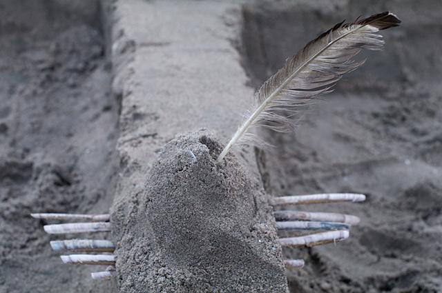 Abstract zandfiguur