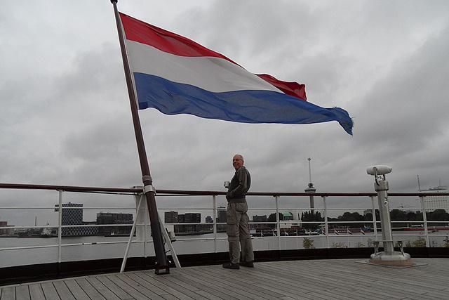 Voor Jolande gaat de vlag uit!